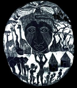 CIRCLE OF TALES woodcut